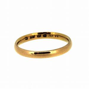 22ct yellow gold plain wedding ring ramsdens With yellow gold wedding rings