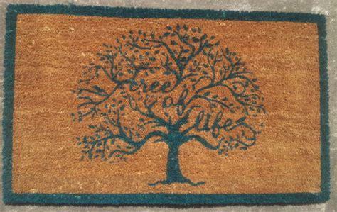 cool doormats large tree of life front door mat coir outdoor porch doormat floor mats ebay