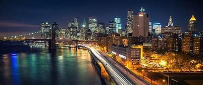 Wallpapers York Desktop Night 1440 Manhattan Bridge