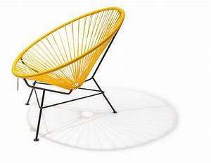 Fauteuil Acapulco Jaune : fauteuil condesa jaune le fauteuil acapulco authentique ~ Teatrodelosmanantiales.com Idées de Décoration