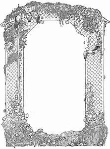 Garden Arbor Clip Art Frame - Knick of Time