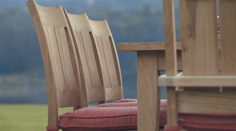 teak patio furniture sophisticated los angeles style