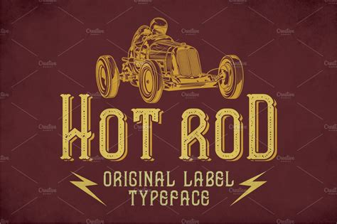 hot rod modern label typeface display fonts creative