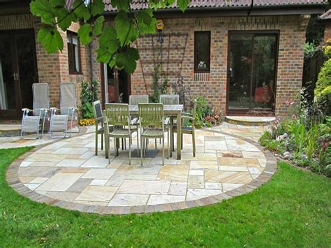Circular Patio Designs, Stone Patio Design Ideas Stamped