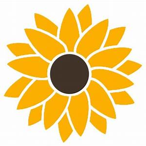Smaller 2 Color Sunflower Hippie Flower Power Vinyl