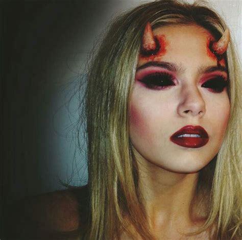 spooky halloween devil makeup ideas  girls women  modern fashion blog