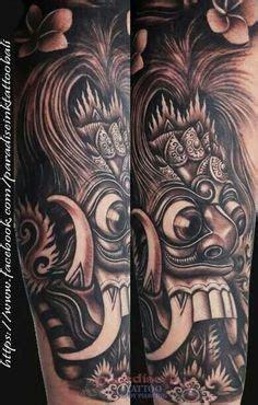 balinesse tattoo sketchbarongrangdablackandgrey