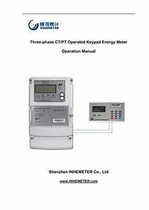 Three Pt Operated Keypad Energy Meter