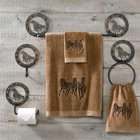 Western Horse Metal Bath Hardware