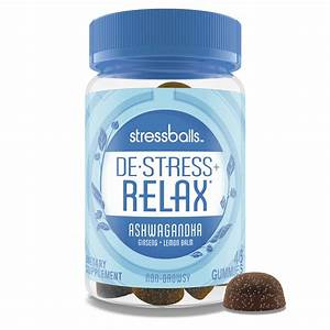 Stressballs Day De-stress Supplement Gummies With Ashwagandha  46 Ct - Walmart Com