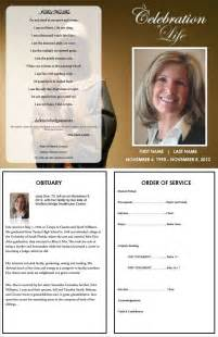 Funeral Program Template Funeral Program Template Inside Consists Of