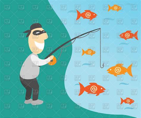 internet phishing  fisherman  emails vector image