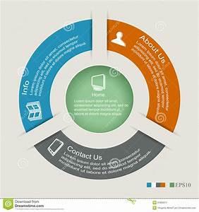 Circle Infographics Stock Vector  Illustration Of Menu