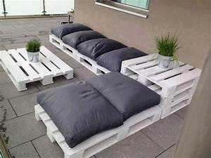 Canapé Jardin Bois : meuble en palette 81 id es diy pour votre espace maison ~ Teatrodelosmanantiales.com Idées de Décoration
