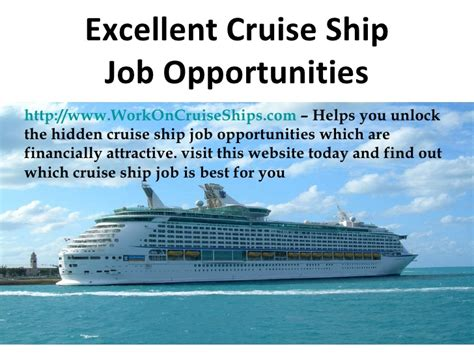 Local Jobs Find Jobs On Cruise Ships