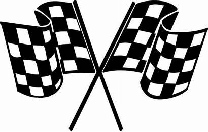 Checkered Line Flags Finish Pixabay Flag Racing