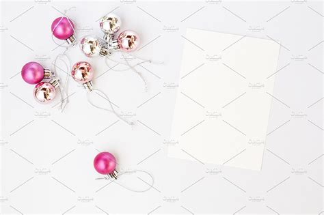 pink silver christmas stock images  images