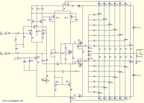 High Power Mosfet Amplifier Schematic Diagram