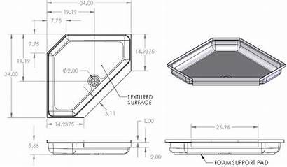 Rv Shower Tub Corner Pan Parts Sprinter