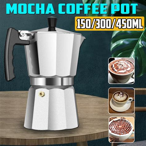 Small quantity coffee drinkers rejoice! 3/6/9 Cups Stovetop Coffee Maker Pot,150/300/450ML Italian Coffee Espresso Percolators Kettle ...