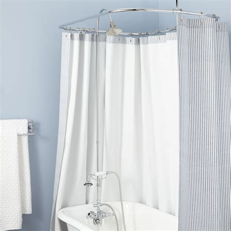 Shower Shower by Clawfoot Tub Solid Brass Shower Conversion Kit With