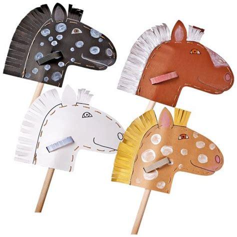 pappe steckenpferdchen jako  bastelset kindergeburtstag pferde kinder und cowboy geburtstag