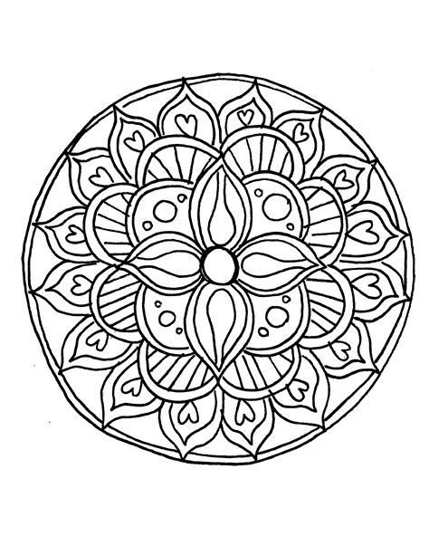 draw  mandala   coloring pages