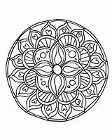 Mandala Coloring Pages Draw sketch template