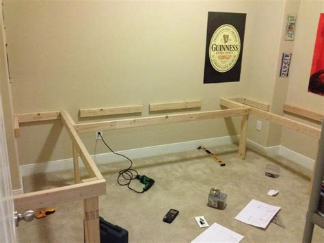 diy l diy floating desk l shape re show your diy ideas and projects home projects pinterest