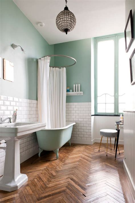 favorite mint green bathrooms  vintage splendor