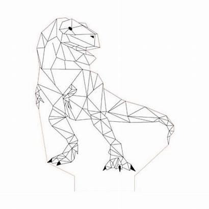 Geometric Illusion Dino Drawing Studio Dinosaur Lamp