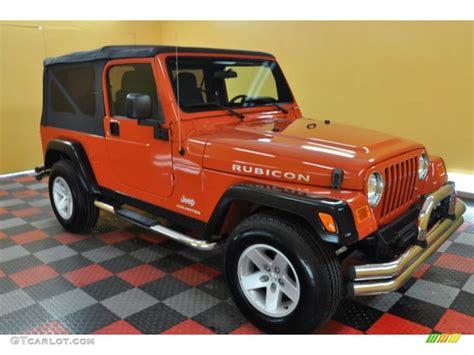 jeep rubicon orange 2005 impact orange jeep wrangler rubicon 4x4 35055064