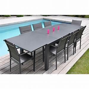 Table De Jardin Aluminium 12 Personnes : salon de jardin en aluminium pas cher uteyo ~ Edinachiropracticcenter.com Idées de Décoration