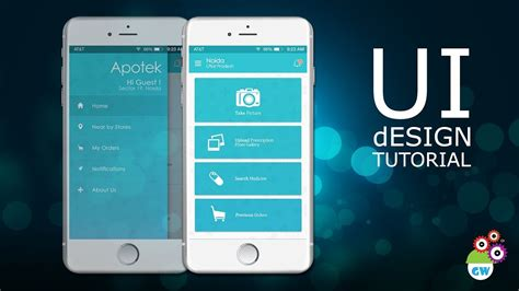 ui design tutorial medicine delivery app homescreen