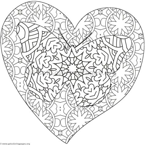 butterfly  heart coloring pages  getcoloringpagesorg