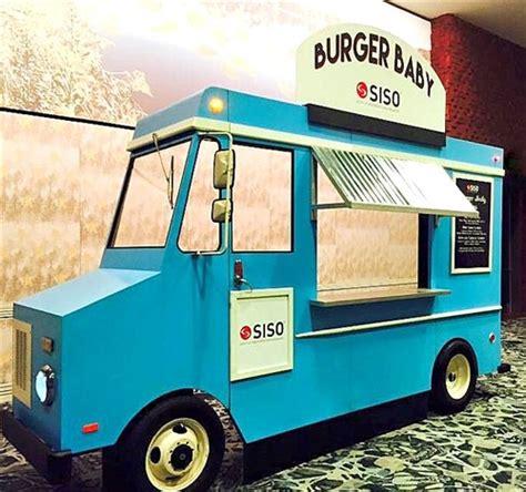 blue faux food truck