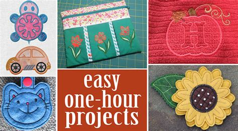 1 hour projects 1 hour embroidery projects