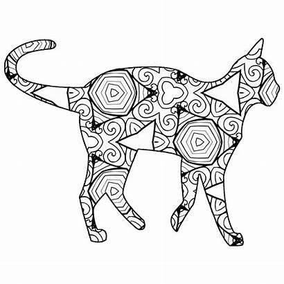 Coloring Animal Geometric Cat Printable Fun Animals