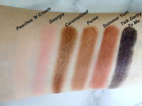 Too Faced Palette Sweet Peach Swatch