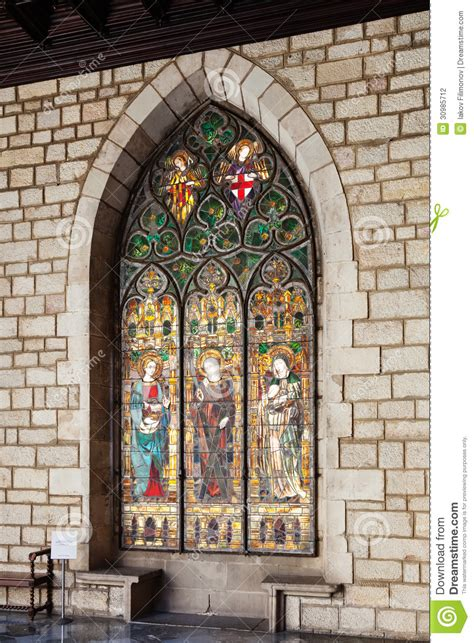 stained glass window  interior  ajuntament de