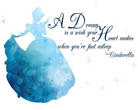 cinderella watercolor silhouette  quote    sell