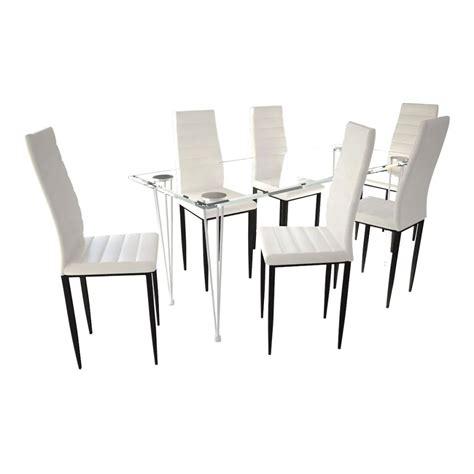 lot de 6 chaises blanches acheter lot de 6 chaises blanches aux lignes fines avec