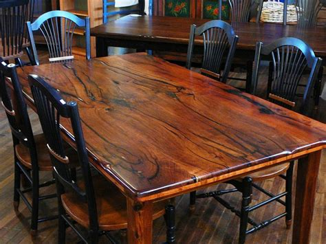live edge dining room table rustic decoration with mesquite wood furniture