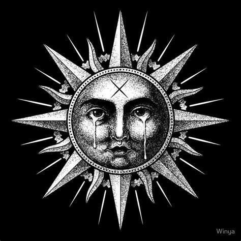 winya   poster art  winya moon sun tattoo