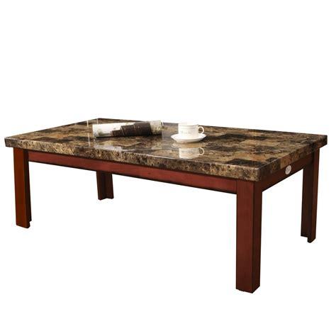 adeco walnut color wood faux marble finish rectangular
