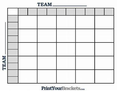 Football Square Grid Pool Printable Squares Template
