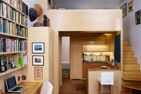 sf micro apartment  nyc  library  loft