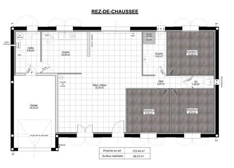 plan maison 90m2 3 chambres plan de maison 90m2 plain pied gratuit maison 120 m2 19