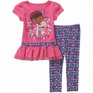 Doc Mcstuffins Baby Toddler Girl Tunic and Leggings Outfit ...