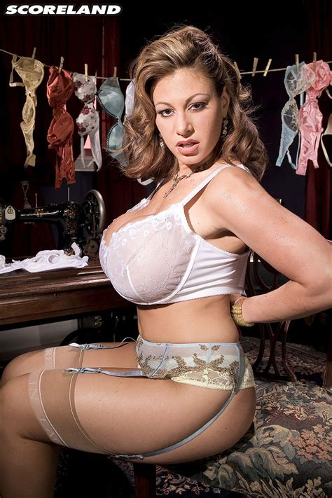 Super Busty Milf Crystal Gunns Models Her Balloon Boobs In Her Bra Collection